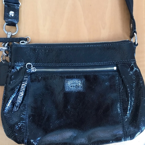 Coach Handbags - Black leather Coach side body bag
